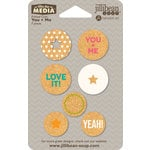 Jillibean Soup - Mix the Media - Printed Cork Circles - You and Me
