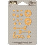 Jillibean Soup - Mix the Media - Die Cut Cork - Love