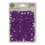 Jillibean Soup - Glitter Beanboard Thin Chip Alphabet - Halloween - Purple Glitter