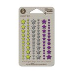 Jillibean Soup - Enamel Stars - Halloween - Green Grey and Purple