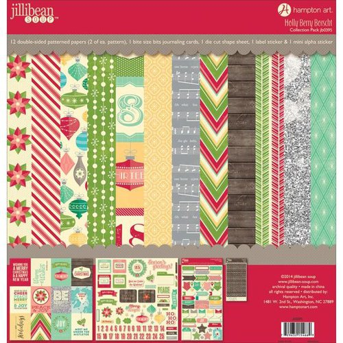 Jillibean Soup - Holly Berry Borscht Collection - Christmas - 12 x 12 Collection Pack