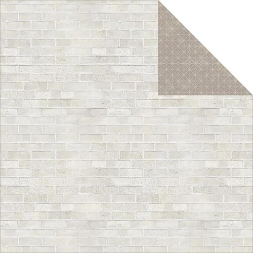 Jillibean Soup - Soup Staples III Collection - 12 x 12 Double Sided Paper - Brick Wall