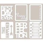 Jillibean Soup - Mini Placemats - 3 x 4 Die Cut Cards - Best Day Ever