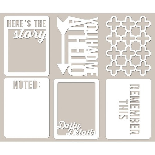 Jillibean Soup Mini Placemats Here's the Story 3 x 4 Die Cut