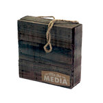 Jillibean Soup - Mix the Media Collection - 6 x 6 Wood Plank
