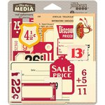 Jillibean Soup - Mix the Media Collection - Ephemera - Red