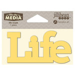 Jillibean Soup - Mix the Media Collection - 4 Inch Stencil Mask - Life