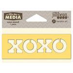 Jillibean Soup - Mix the Media Collection - 4 Inch Stencil - XOXO