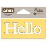 Jillibean Soup - Mix the Media Collection - 4 Inch Stencil - Hello