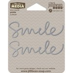 Jillibean Soup - Mix the Media Collection - Wire Words - Smile