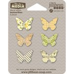 Jillibean Soup - Mix the Media Collection - Die Cut Vellum Shapes - Butterfly