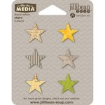 Jillibean Soup - Mix the Media Collection - Die Cut Vellum Shapes - Stars
