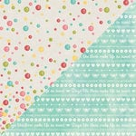 Jillibean Soup - Summer Red Raspberry Soup Collection - 12 x 12 Double Sided Paper - Whipped Cream