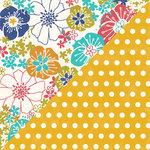 Jillibean Soup - Saffron Yellow Pepper Soup Collection - 12 x 12 Double Sided Paper - Saffron Threads