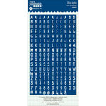 Jillibean Soup - Cardstock Stickers - Mini Alphabet - Navy