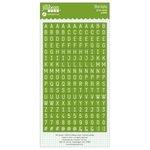Jillibean Soup - Cardstock Stickers - Mini Alphabet - Green