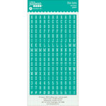 Jillibean Soup - Cardstock Stickers - Mini Alphabet - Teal