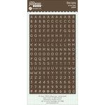 Jillibean Soup - Cardstock Stickers - Mini Alphabet - Brown