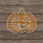 Jillibean Soup - Halloween - DIY String Art - Pumpkin - Carved