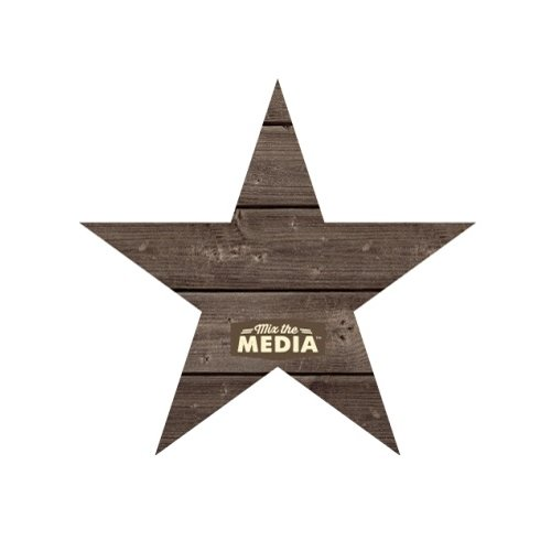 Jillibean Soup - Mix the Media Collection - Wood Plank - Star