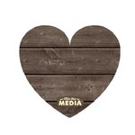 Jillibean Soup - Mix the Media Collection - Wood Plank - Heart