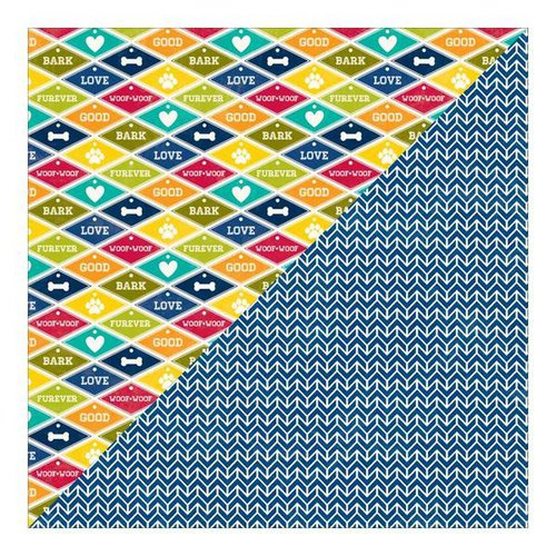 Jillibean Soup - Fur Fusion Collection - 12 x 12 Double Sided Paper - Pooch Play