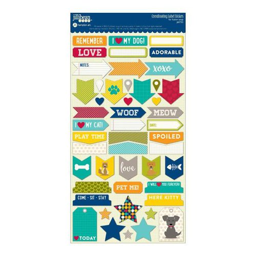 Jillibean Soup - Fur Fusion Collection - Cardstock Stickers - Labels