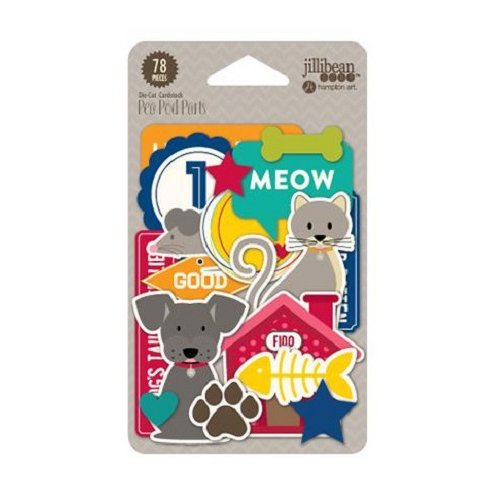 Jillibean Soup - Fur Fusion Collection - Pea Pod Parts - Die Cut Cardstock Pieces - Shapes