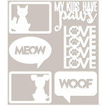 Jillibean Soup - Fur Fusion Collection - Mini Place Mats - 3 x 4 Die Cut Cards