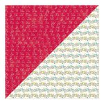 Jillibean Soup - Alphabet Soup II Collection - 12 x 12 Double Sided Paper - Spicy Vegetable Juice
