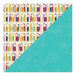 Jillibean Soup - Alphabet Soup II Collection - 12 x 12 Double Sided Paper - Sea Salt