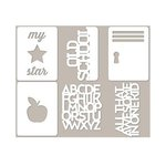 Jillibean Soup - Alphabet Soup II Collection - Mini Place Mats - 3 x 4 Die Cut Cards
