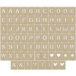Jillibean Soup - Die Cut Cardstock Pieces - Alphabet Tiles - Kraft
