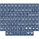 Jillibean Soup - Die Cut Cardstock Pieces - Alphabet Tiles - Denim