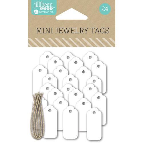 Jillibean Soup - Mini Jewelry Tags - White