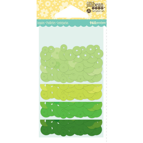 Jillibean Soup - Shaker Sequin Fillers - Greens