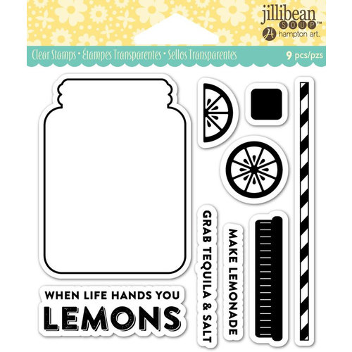 Jillibean Soup - Shaker Clear Acrylic Stamps - Lemonade