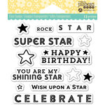 Jillibean Soup - Shaker Clear Acrylic Stamps - Rock Star