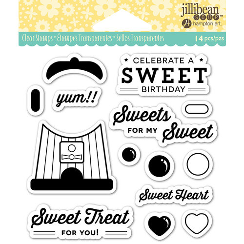 Jillibean Soup - Shaker Clear Acrylic Stamps - Sweet Treat