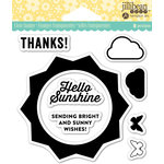 Jillibean Soup - Shaker Clear Acrylic Stamps - Sunshine