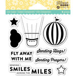 Jillibean Soup - Shaker Clear Acrylic Stamps - Fly Away