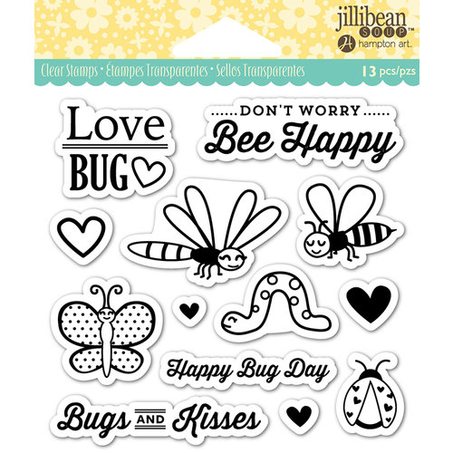 Jillibean Soup - Shaker Clear Acrylic Stamps - Love Bug
