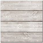 Jillibean Soup - Mix the Media Collection - 3D Wood Plank - 12 x 12 - White