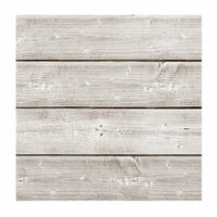 Jillibean Soup - Mix the Media Collection - 3D Wood Plank - 6 x 6 - White