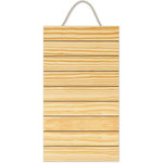 Jillibean Soup - Mix the Media Collection - Hanging Wood Panel - 10 x 18 - Pine