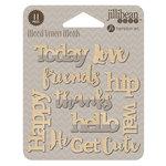 Jillibean Soup - Wood Veneer Words - Happy