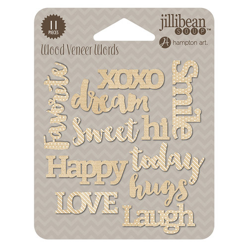 Jillibean Soup - Wood Veneer Words - Today