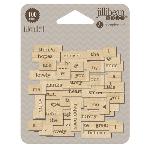 Jillibean Soup - Wordfetti - Wood - Celebrate