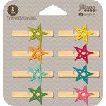 Jillibean Soup - Wood Veneer Clothespins - Stars