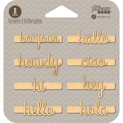Jillibean Soup - Wood Veneer Clothespins - Bonjour